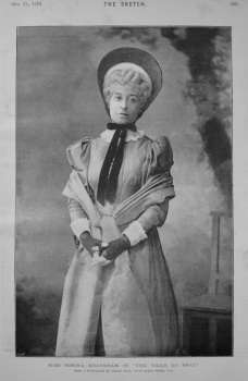 """Miss Rosina Brandram in """"The Vicar of Bray."""" 1894"""
