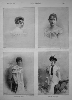Fraulein Milli Elsinger. Fräulein Eleonore Von Driller. Fräulein Toni Hoops. Fräulein Ella Arndt. 1894