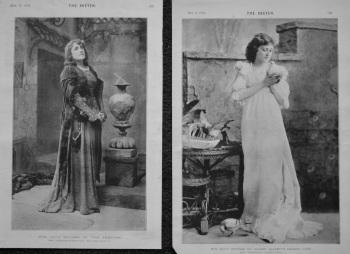 "Miss Julia Neilson in ""The Tempter.""  &  Miss Maud Jeffries, Mr. Wilson Barrett's Leading Lady. 1894"