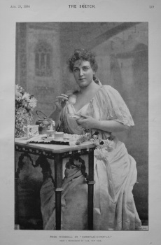 """Miss Russell in """"Girofle-Girofla."""" 1894"""