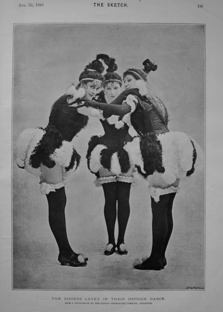 The Sisters Levey in their Ostrich Dance. 1894