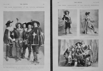 """The Three Musketeers,"" at the Theatre Metropole. 1898."