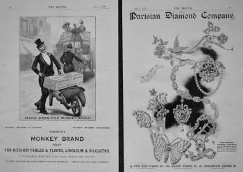 Brooke's Monkey Brand Soap.  &  Parisian Diamond Company. 1898.