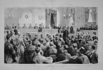 Egypt After The War - The Trial of Arabi at Cairo : Reading The Sentence of Death. 1882