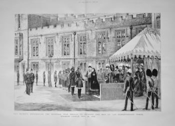 Her Majesty Distributing the Egyptian War Medals to Officers and Men of the Expeditionary Force, Windsor Castle, Nov. 21, 1882.