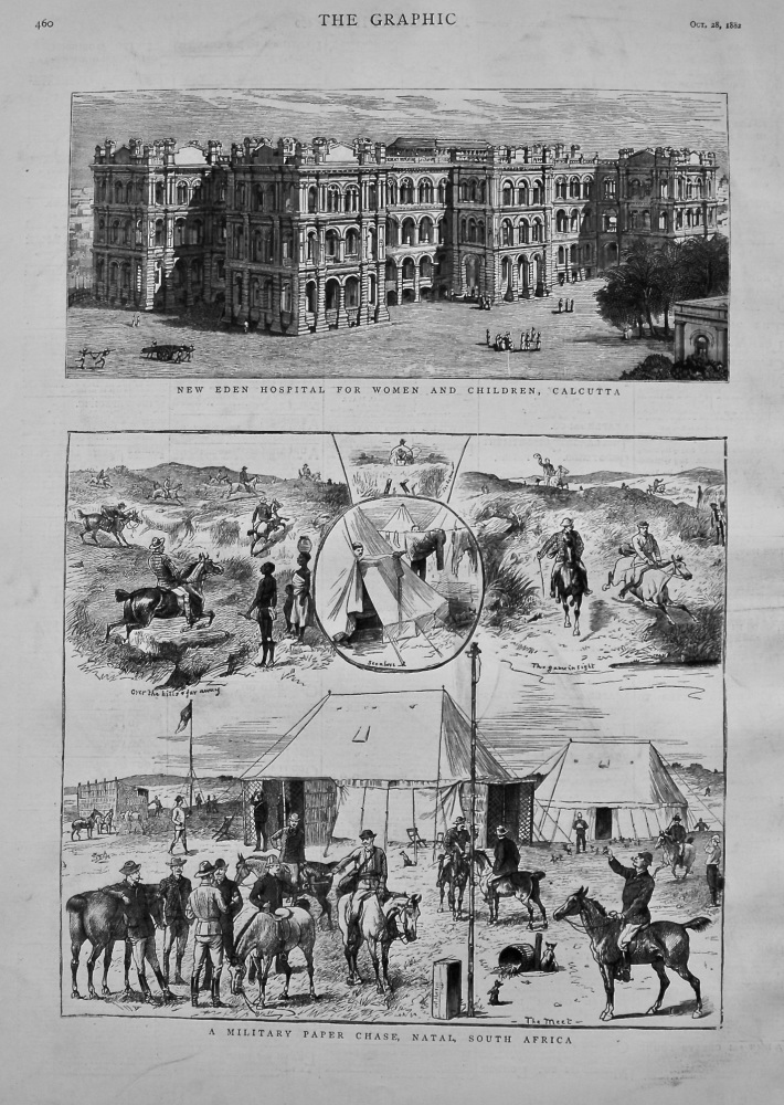 New Eden Hospital For Women and Children, Calcutta. 1882