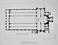 Basilica of St. Paul at Rome. Ground-Plan Previous to the Fire of A.D. 1823.