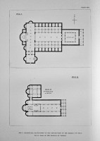 Conjectural Restoration of the Ground-Plan of the Basilica of Nola. Plan of the Basilica of Trieste.
