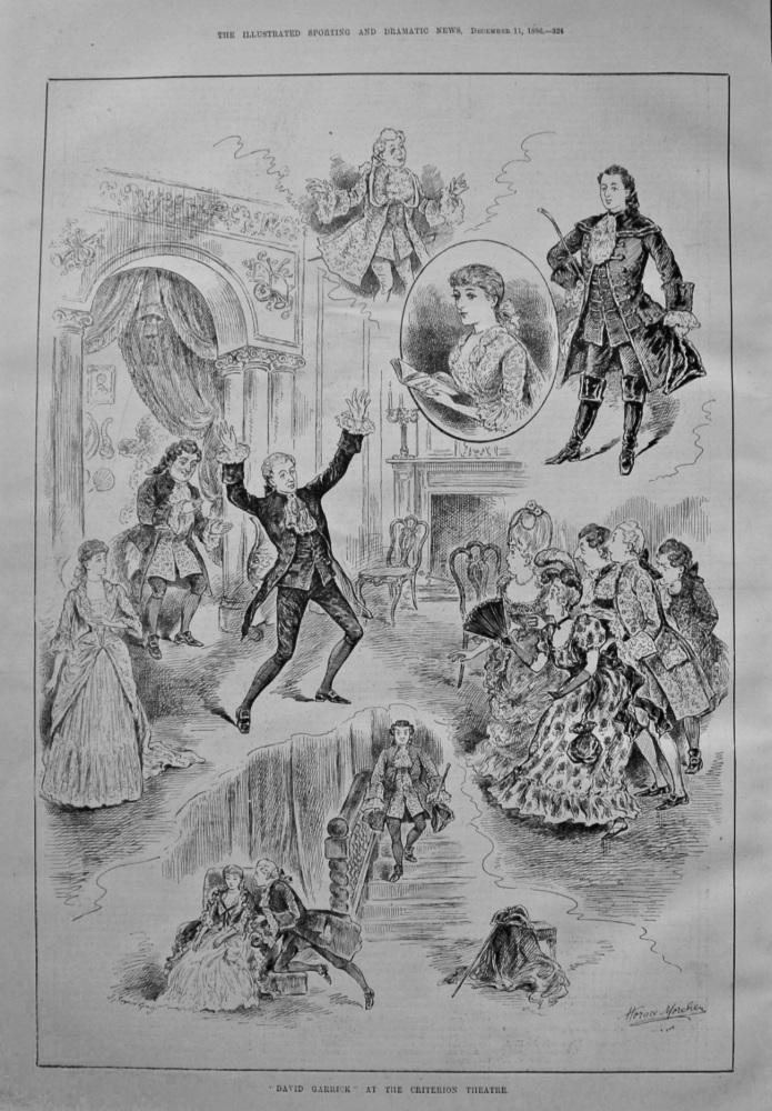 """David Garrick"" at the Criterion Theatre. 1886."