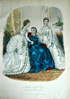La Mode Illustree. 1869. Number 50. (Coloured Lithograph)