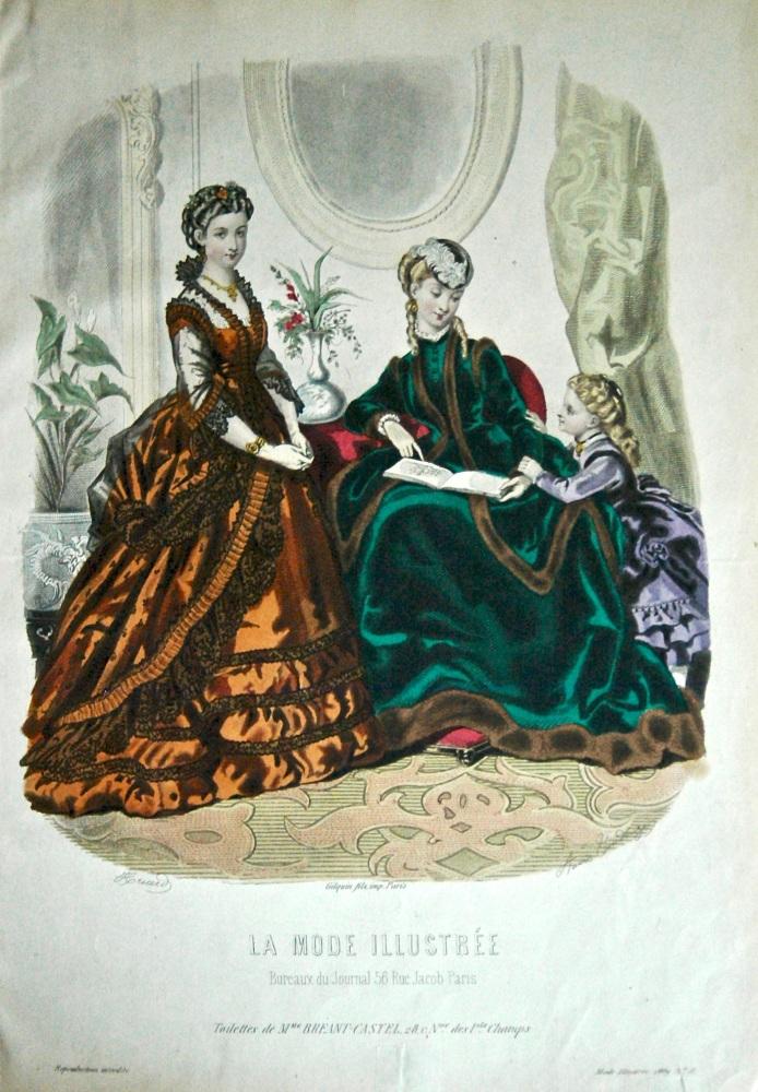La Mode Illustree. 1869. Number 51. (Coloured Lithograph).