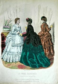 La Mode Illustree. 1869. Number 49. (Coloured Lithograph).