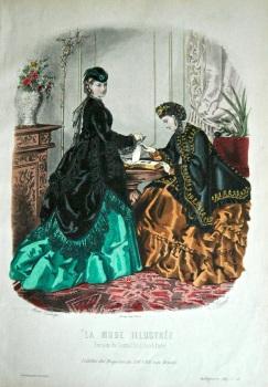 La Mode Illustree. 1869. Number 48. (Coloured Lithograph)
