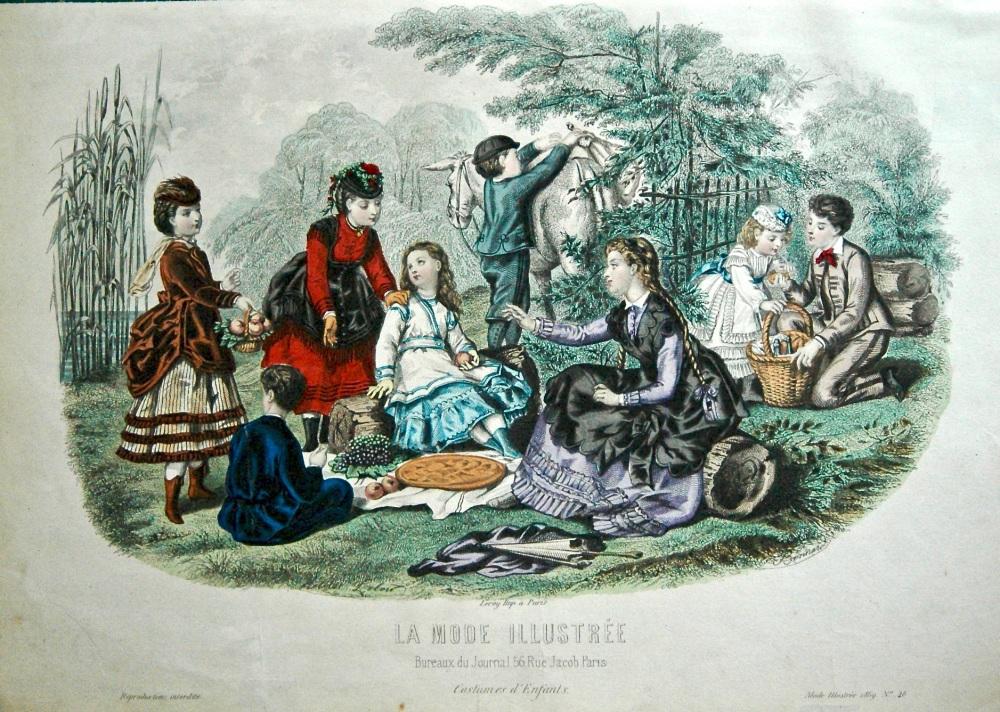 La mode illustree. 1869. number 46. coloured lithograph
