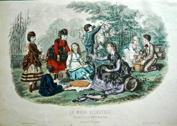 La Mode Illustree. 1869. Number 46. (Coloured Lithograph)