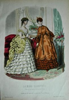 La Mode Illustree. 1869. Number 43. (Coloured Lithograph)
