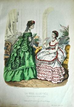 La Mode Illustree. 1869. Number 42. (Coloured Lithograph)