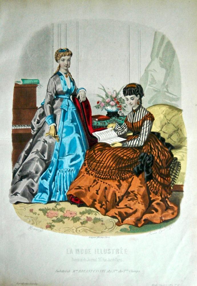 La Mode Illustree. 1869. Number 41. (Coloured Lithograph)