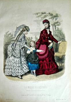 La Mode Illustree. 1869. Number 40. (Coloured Lithograph)