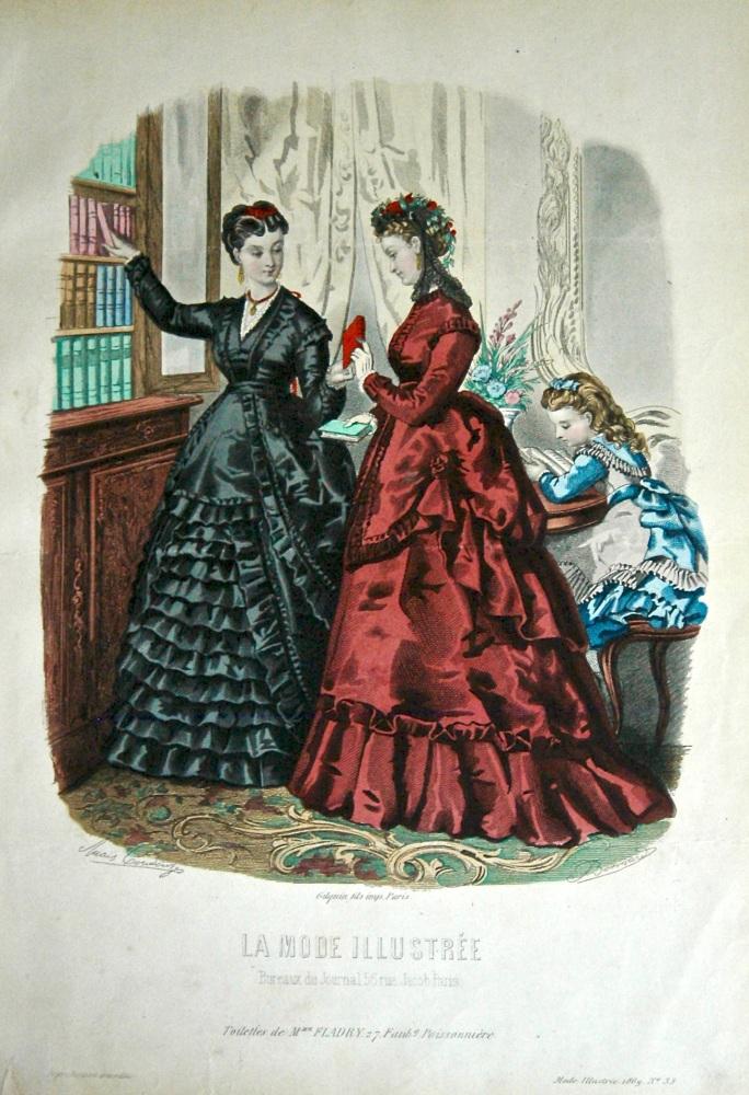 La Mode Illustree. 1869. Number 39. (Coloured Lithograph)
