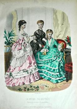 La Mode Illustree. 1869. Number 38. (Coloured Lithograph)