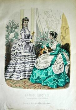 La Mode Illustree. 1869. Number 37. (Coloured Lithograph)