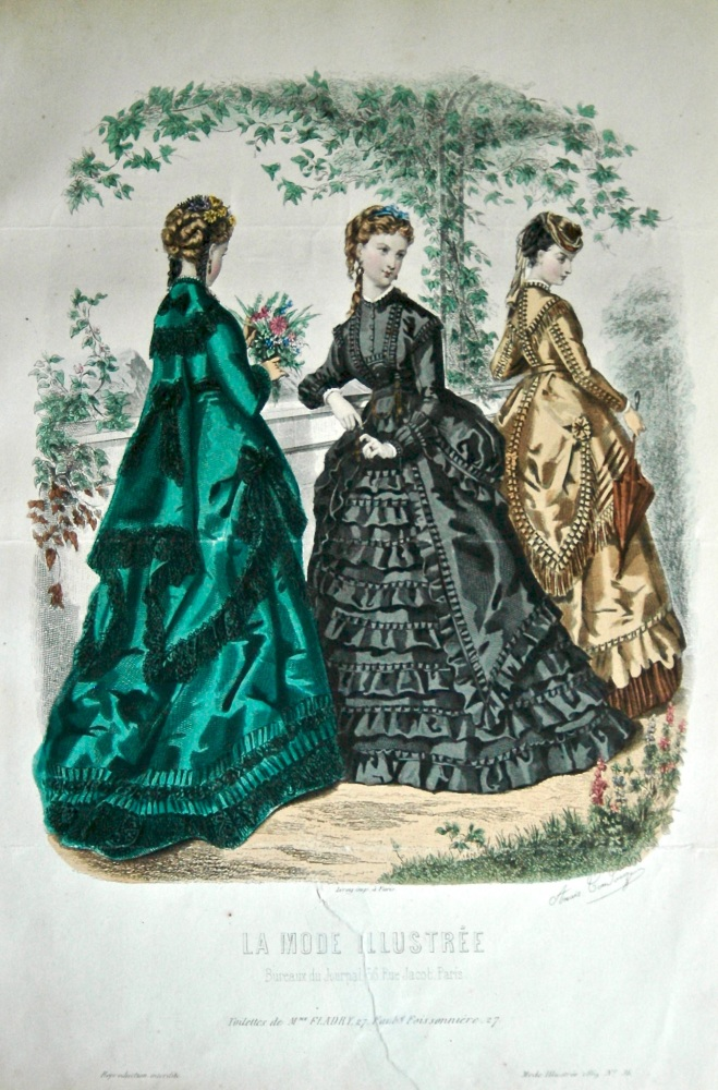 La Mode Illustree. 1869. Number 36. (Coloured Lithograph)