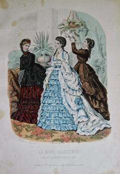 La Mode Illustree. 1869. Number 35. (Coloured Lithograph)