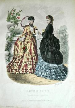 La Mode Illustree. 1869. Number 34. (Coloured Lithograph)