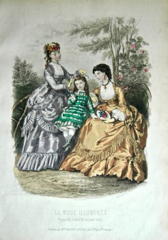La Mode Illustree. 1869. Number 30. (Coloured Lithograph)