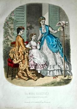 La Mode Illustree. 1869. Number 29. (Coloured Lithograph)