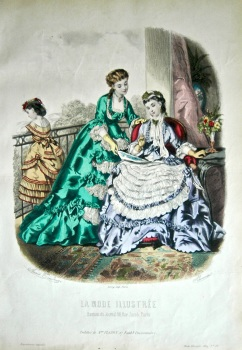 La Mode Illustree. 1869. Number 28. (Coloured Lithograph)