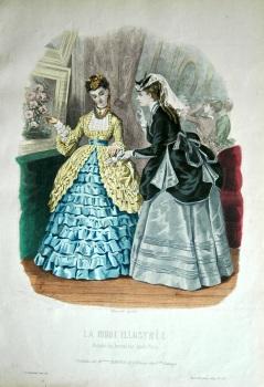 La Mode Illustree. 1869. Number 27. (Coloured Lithograph)