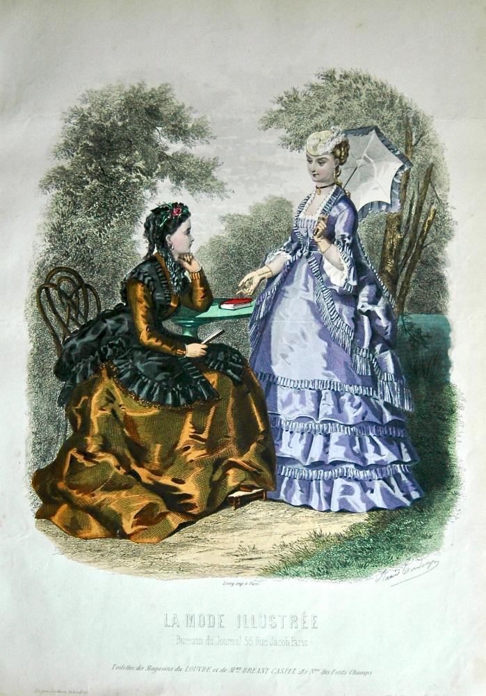 La Mode Illustree. 1869. Number 26. (Coloured Lithograph)