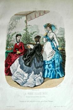 La Mode Illustree. 1869. Number 25. (Coloured Lithograph)