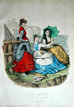 La Mode Illustree. 1869. Number 24. (Coloured Lithograph)