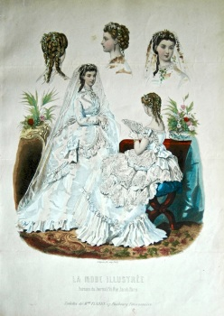 La Mode Illustree. 1869. Number 23. (Coloured Lithograph)