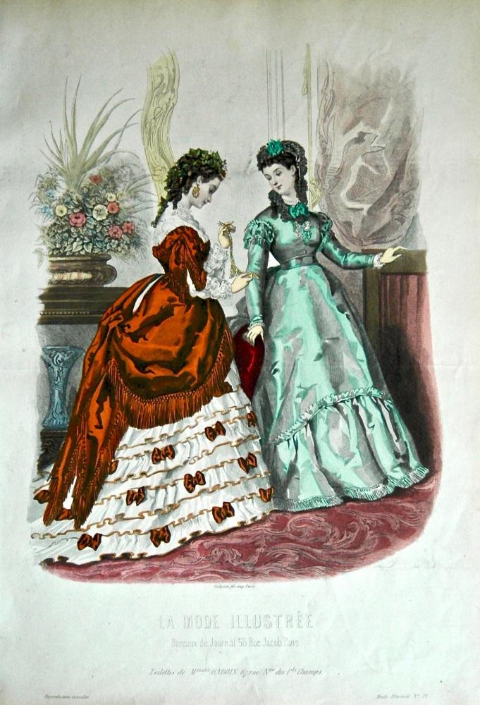La Mode Illustree. 1869. Number 21. (Coloured Lithograph)
