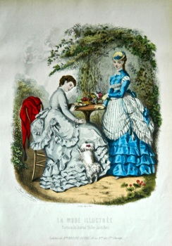 La Mode Illustree. 1869. Number 20. (Coloured Lithograph)
