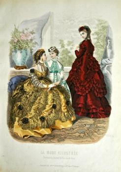 La Mode Illustree. 1869. Number 19. (Coloured Lithograph)