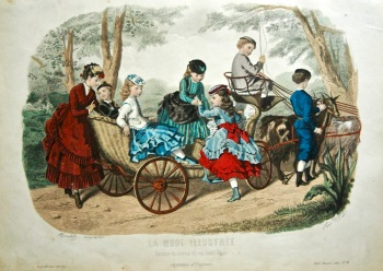 La Mode Illustree. 1869. Number 18. (Coloured Lithograph)