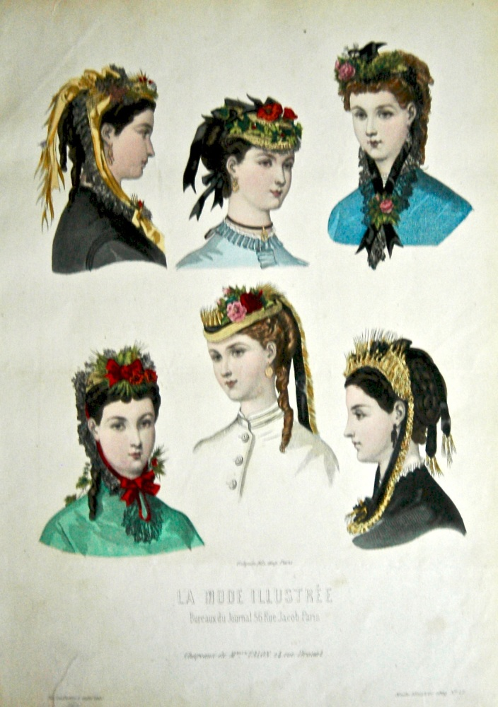 La Mode Illustree. 1869. Number 17. (Coloured Lithograph)