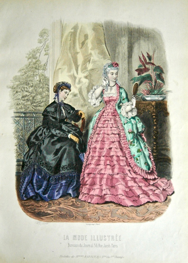 La Mode Illustree. 1869. Number 16. (Coloured Lithograph)