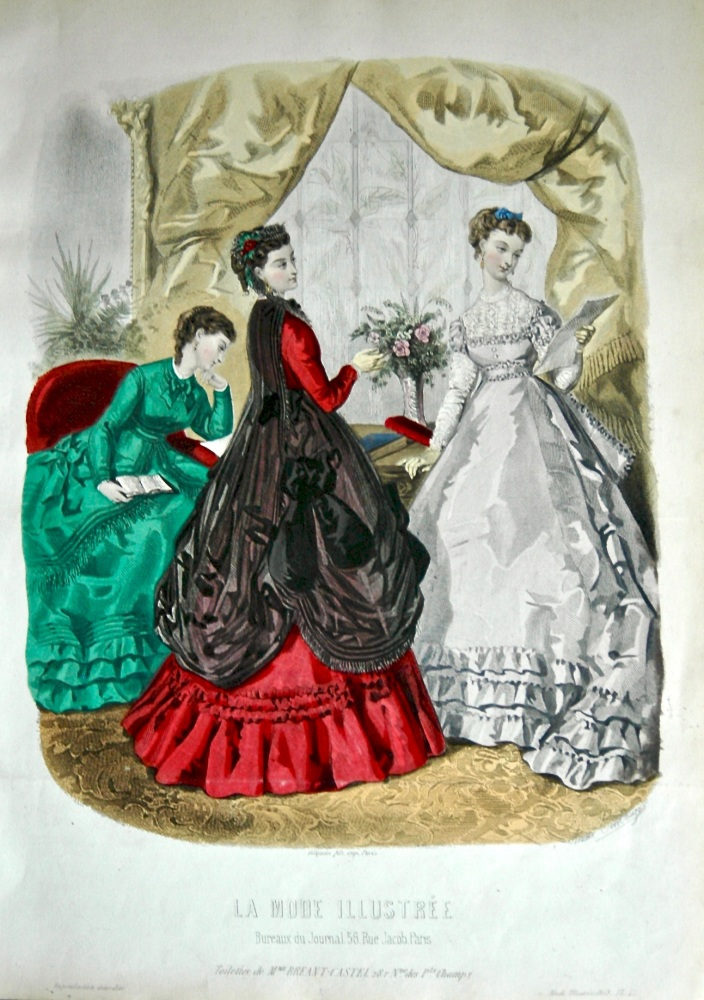La Mode Illustree. 1868. Number 43. (Coloured Lithograph)