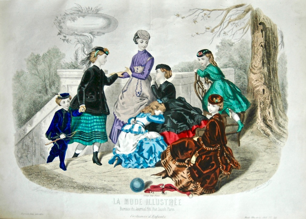 La Mode Illustree. 1868. Number 44. (Coloured Lithograph)