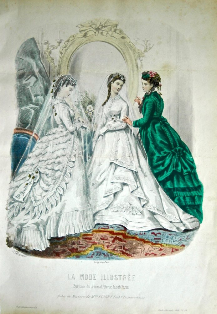 La Mode Illustree. 1868. Number 46. (Coloured Lithograph)