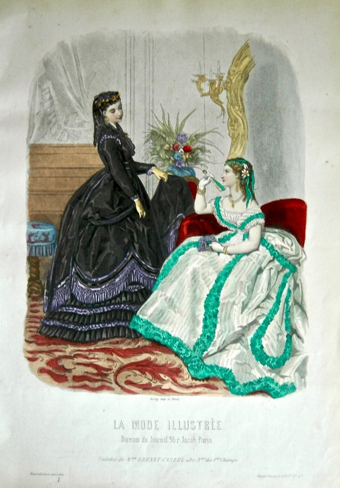 La Mode Illustree. 1868. Number 48. (Coloured Lithograph)