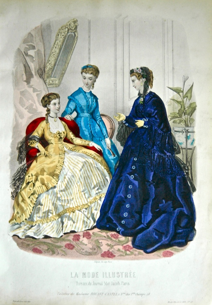 La Mode Illustree. 1868. Number 49. (Coloured Lithograph)