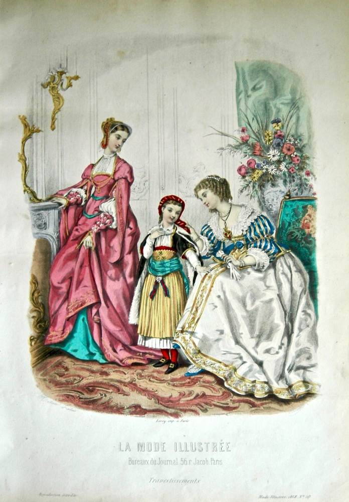La Mode Illustree. 1868. Number 50. (Coloured Lithograph)