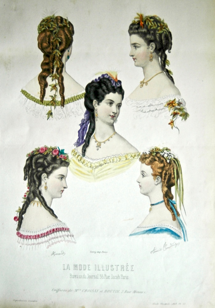 La Mode Illustree. 1868. Number 52. (Coloured Lithograph)